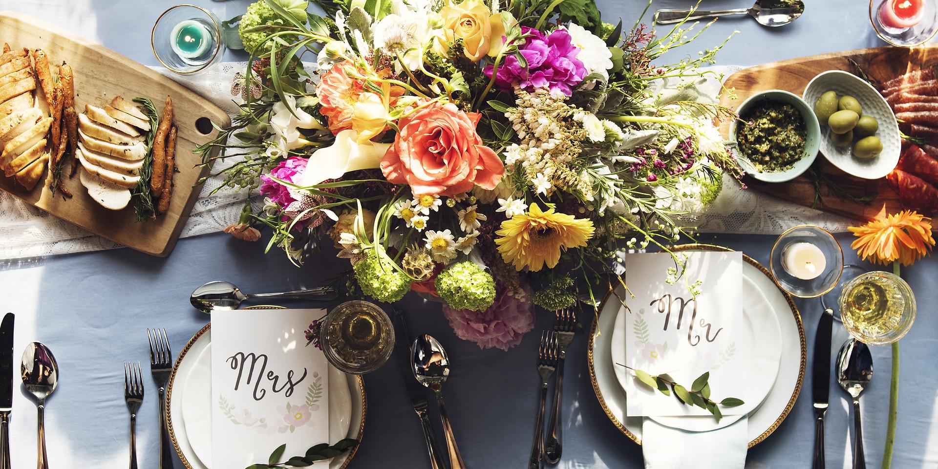 Romantic Harvest tablescape