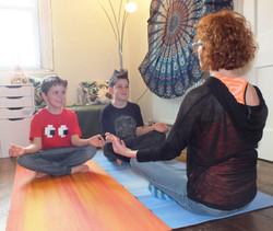 Kids yoga small group
