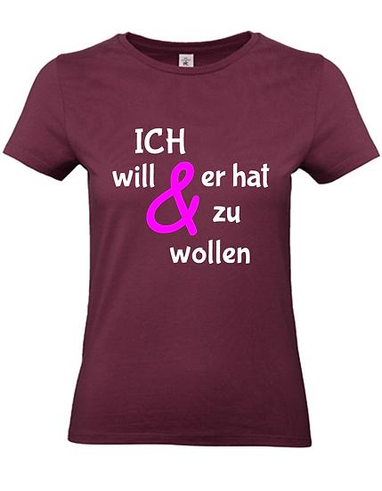 Braut Shirt 'Ich will' - JGA