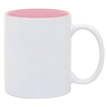 Tasse, innen Rosa inkl. hochwertiger 4C-Sublimation