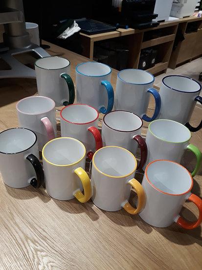 Colour-Rim Tasse inkl. hochwertiger 4C-Sublimation
