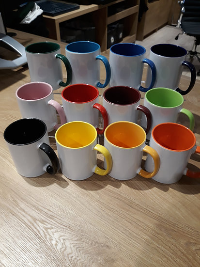 Two-Tone Tasse inkl. hochwertiger 4C-Sublimation