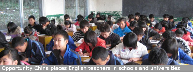 Opportunity China provides English teachers for public and private schools