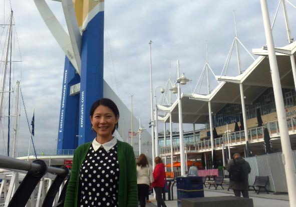 Lu Shuyan at Gunwarf Quays