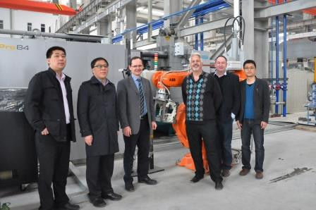 Andrew Jackson (2nd from right) visiting GRIMN in Beijing, with ABB representatives