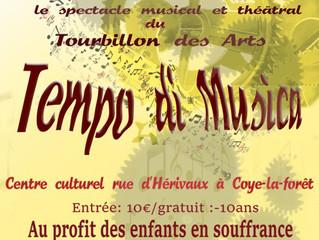SOIREE MUSIQUE & THEATRE LE 23 MARS 2019 à COYE LA FORET