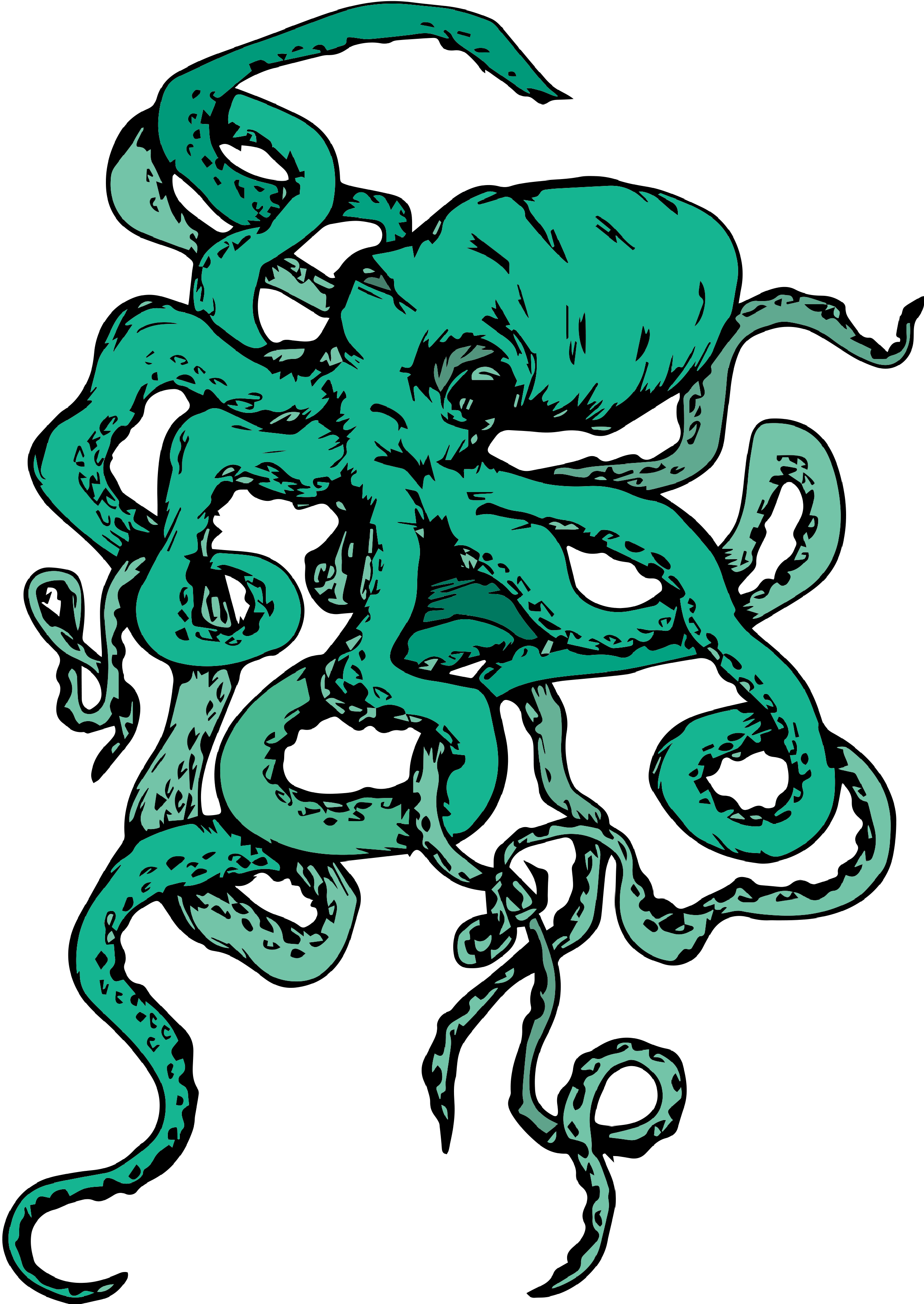 Colored Octopus T-Shirt Design