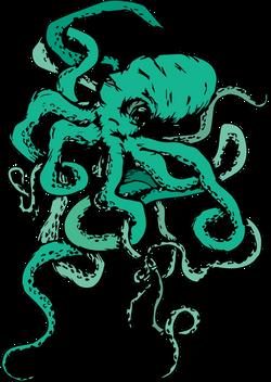 Colored Octopus T-Shirt Design