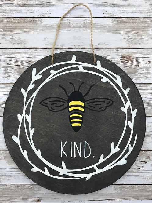Bee Kind Wood Round