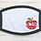 Thumbnail: Teacher Apple mask with Custom text option! (Middle)