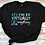 Thumbnail: OTs Can Do Virtually Anything: Black Tee with Glitter print