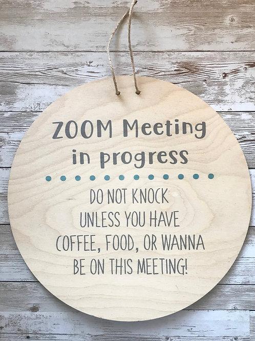 Zoom Meeting in Progress: Coffee, Food, or be on this Meeting