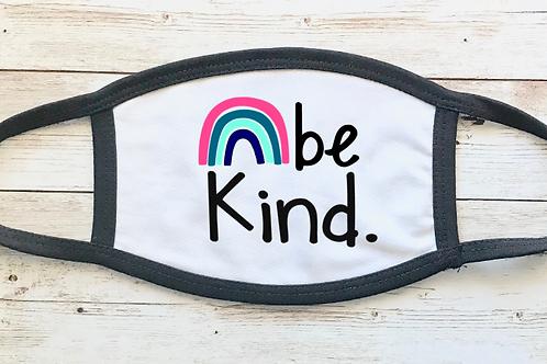Rainbow Pastel Be Kind Mask