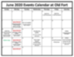 Old Fort Calendar of Events - June 2020[