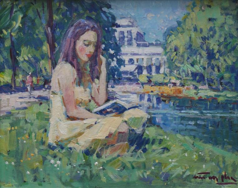 Lezen in het Vondelpark Amsterdam