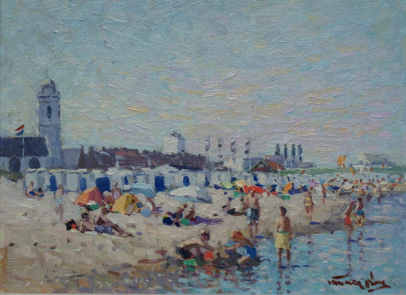 Strandgezicht Katwijk aan Zee