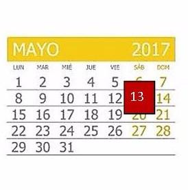Que pasa el 13 de mayo?
