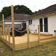 Raised timber deck 4.8m x 6.1m