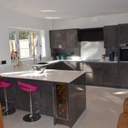 Kitchen Diner - Italian Concrete handleless kitchen