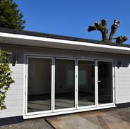 6m x 4m modern summerhouse:garden room w