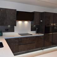 Italian Concrete high gloss modern kitchen