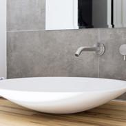 Countertop.sink.wall.valve.grey.wall.til