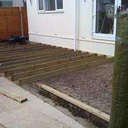 Split level timber deck, Bracken, Ferndo