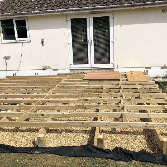 Subframe for timber deck