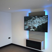 Floating entertainment centre with LED 2