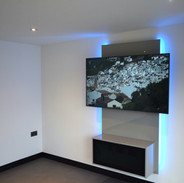 Floating entertainment centre with LED
