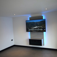 Floating entertainment centre with LED 1