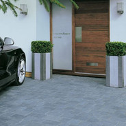 Modern driveway with block paving and AU
