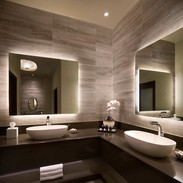 Modern contemporary bathroom with his &