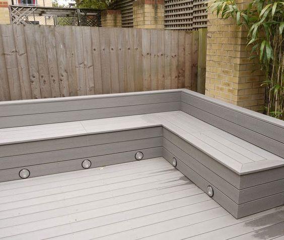 Composite decking bench seatjpg