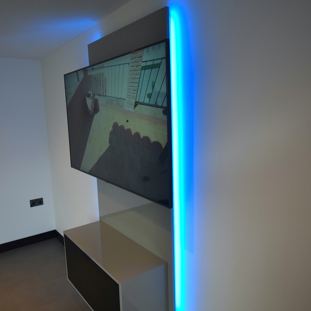 Floating entertainment centre with LED 3