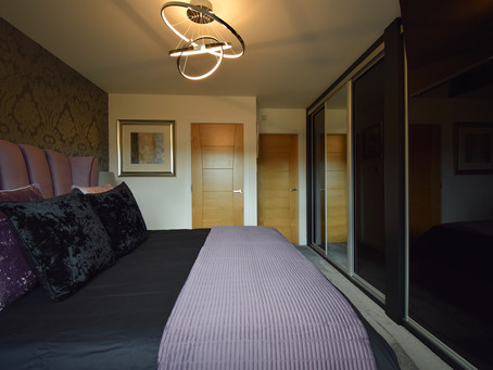 Modern Fitted Wardrobes with interior LED lighting