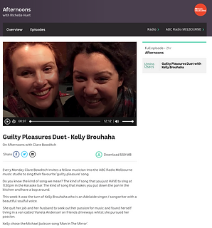 Kelly Brouhaha ABC Afternoons Guilty Ple