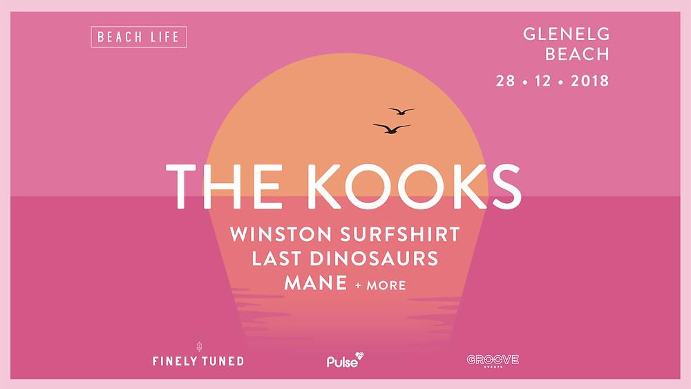 The Kooks Winston Surfshirt Last Dinosaurs Mane Beach Life 2018
