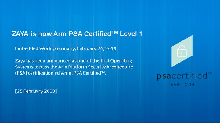 PSA Certified Level 1