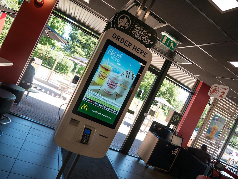 Digital Order Screen in McDonalds
