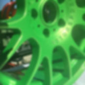 Car Rims custm powder coated by Bling Custom Coatings