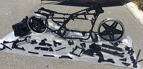 Honda Goldwing motorbike restored by Bling Custom Coatings