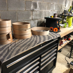 Sanding and routing stations