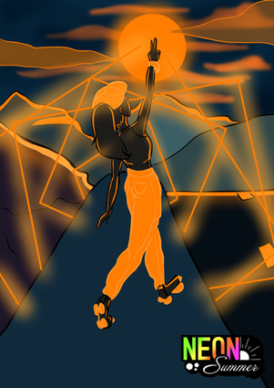 Neon Summer Orange