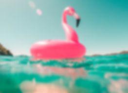 Pink Flamingo Pool Float in Croatia - Summer