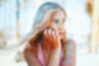 Tan, Blonde Girl in Venice Beach, CA
