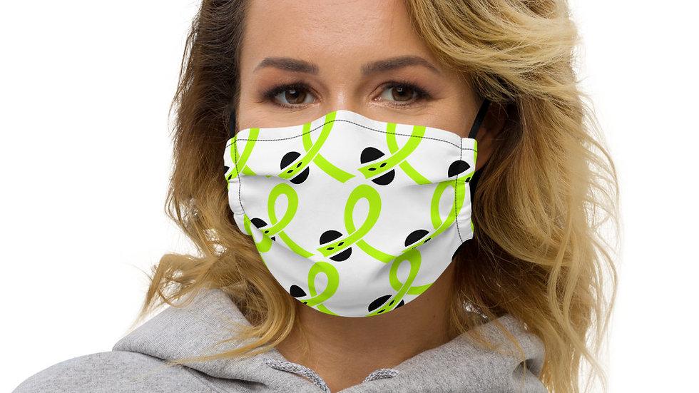 Cancer Ninja, Lymphoma Awareness Premium face mask