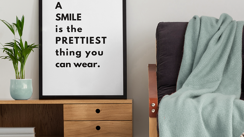 A Smile Is The Prettiest Thing You Can Wear Wall Art