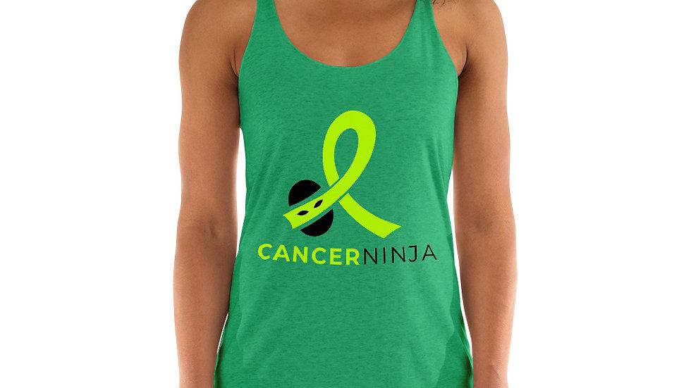 Cancer Ninja Lymphoma Awareness Women's Racerback Tank