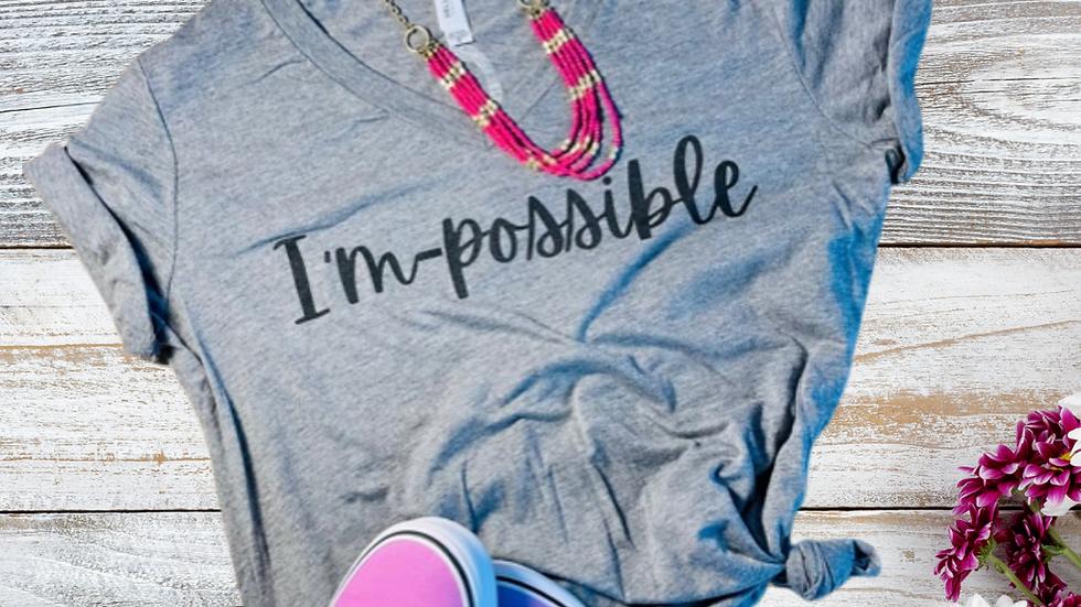 I'm-possible Womens V-Neck T-Shirt